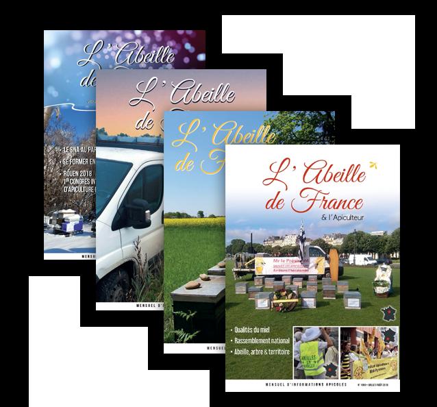 Des exemplaires de l'Abeille de France